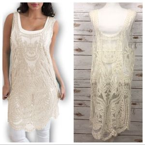 Simply Couture Sheer Lace Tunic